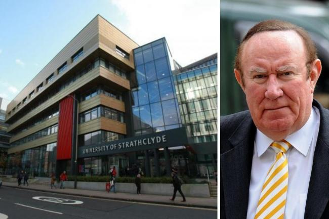 Andrew Neil was criticised for his tweet about Strathclyde University
