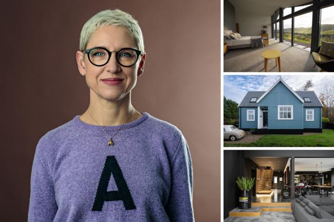 Anna Campbell-Jones, interior designer and presenter of Scotland's Home of the Year alongside a trio of properties that feature in series three. Pictures: Steven Mclaren/Rory Dunning/Andrew Jackson/IWC Media/BBC Scotland