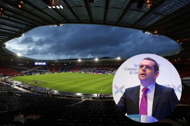 Douglas Ross has called on the SNP to approve plans to allow fans to attend Euros fixtures at Hampden
