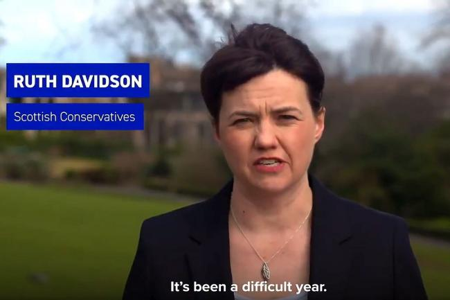 Davidson leads Tory Holyrood election ad despite heading for Lords