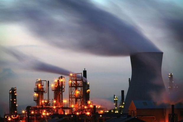 Grangemouth, symbol of Scotland's fossil fuel age – an industrial dragon breathing greenhouse gas