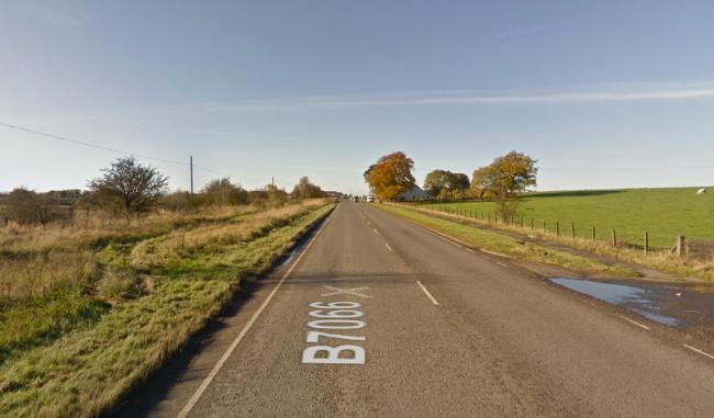 Man dies after road crash involving van and tractor on Glasgow and Edinburgh road