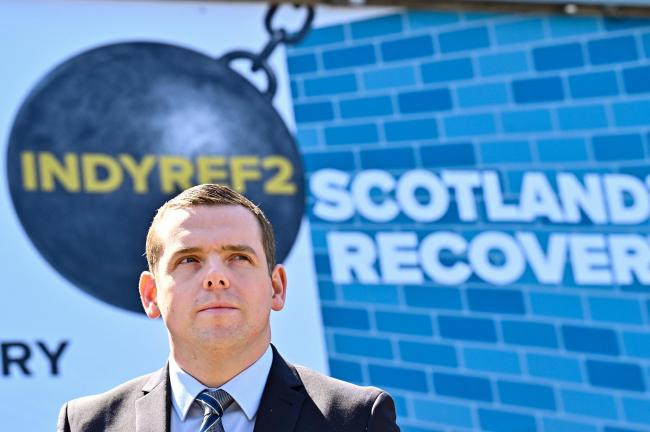 Scottish Conservative leader Douglas Ross at the launch of the Tories' list vote campaign in Edinburgh yesterday