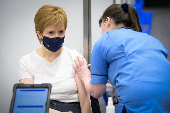 Nicola Sturgeon 'emotional' after receiving her first Covid vaccine