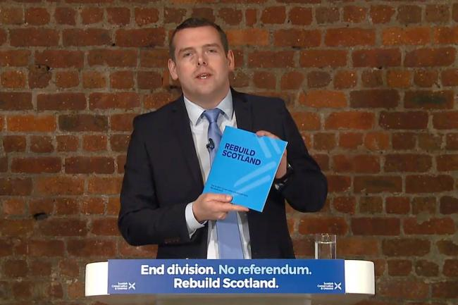 Scottish Tories ask voters to back them 'this one time' to stop Indyref2