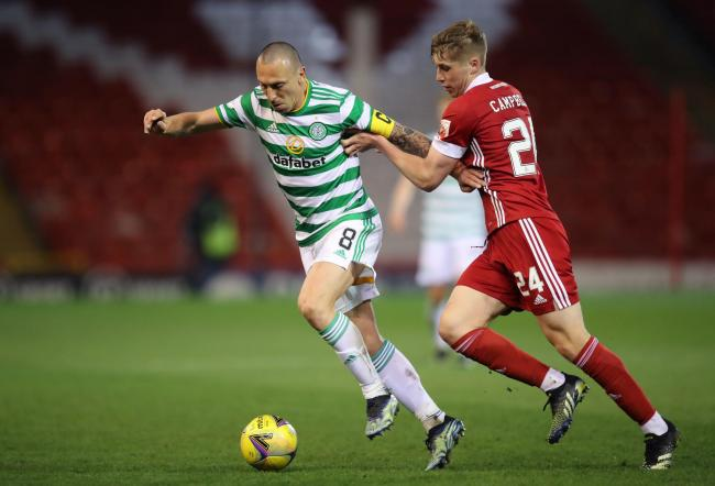Scott Brown couldn't influence the game as Celtic skipper faced his future employers.