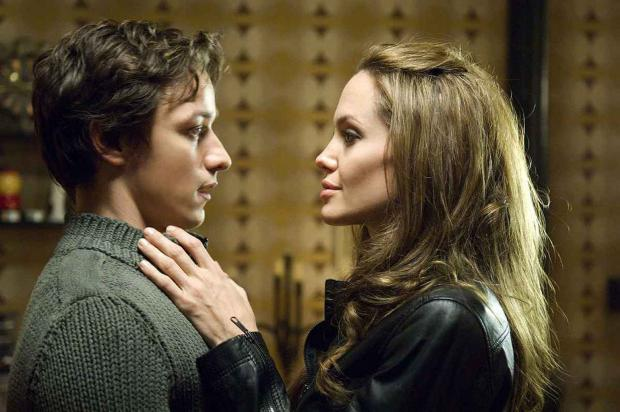 HeraldScotland: James McAvoy and Angelina Jolie in Wanted