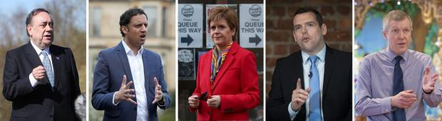 HeraldScotland: Leaders of main political parties standing in Scots election. Credit: PA