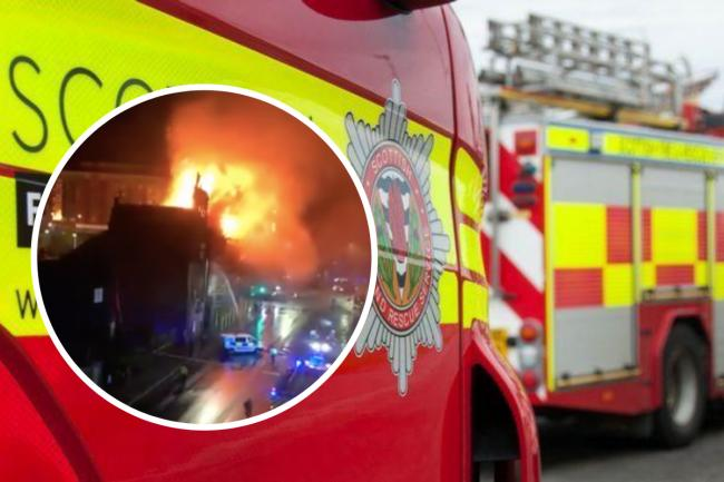 Firefighters tackle city centre blaze