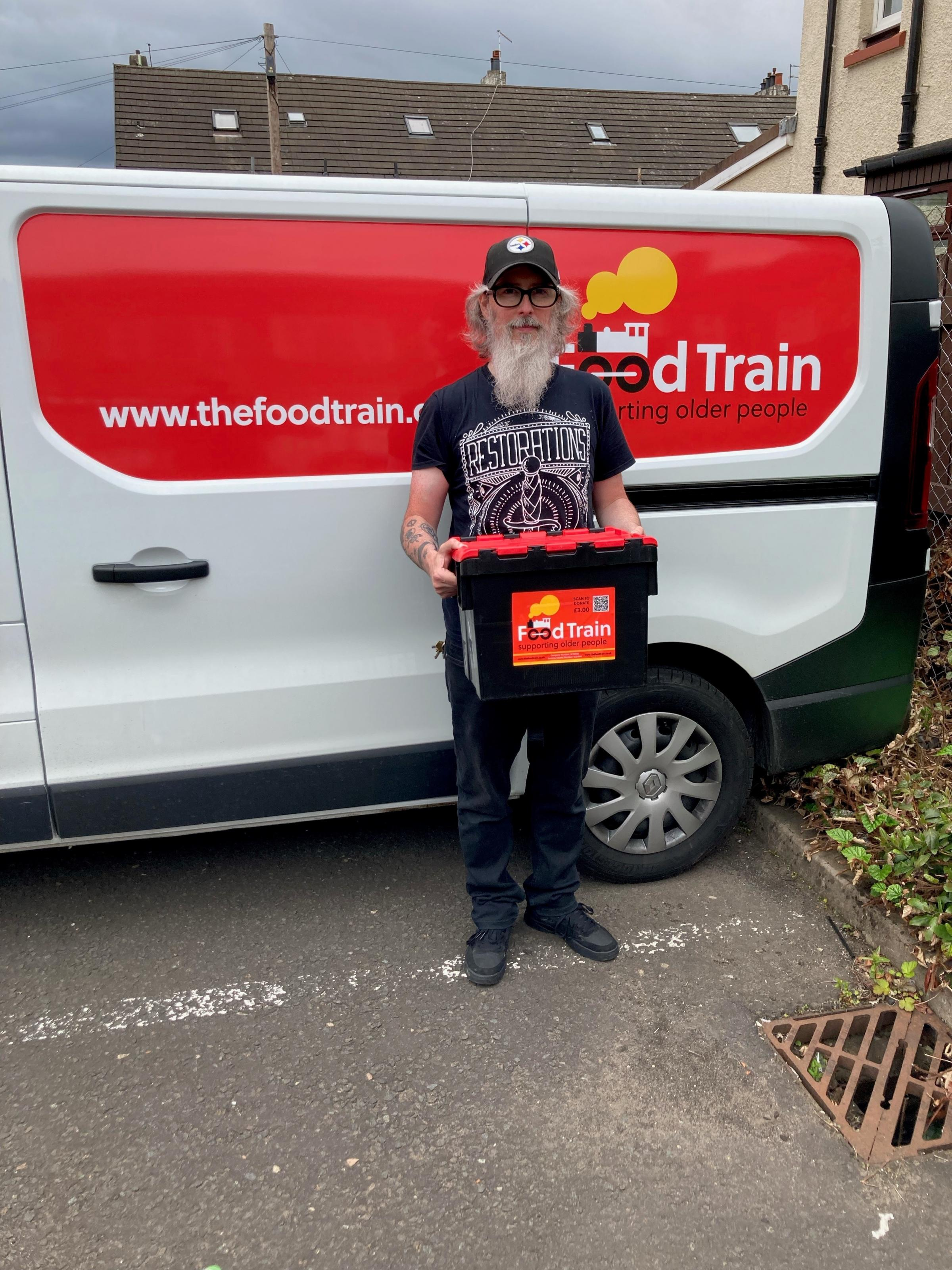Volunteer Ian Arthur has been making a difference with the Food Train charity