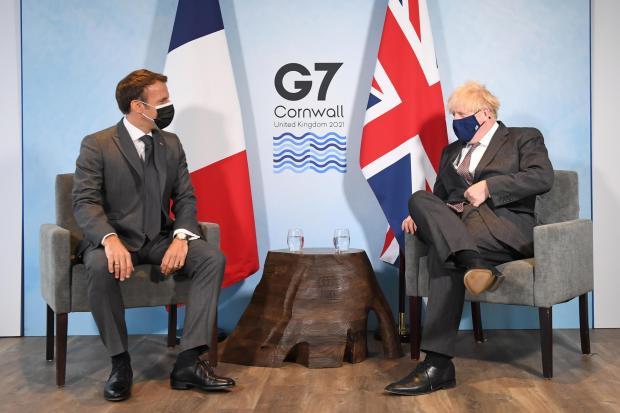Herald of Scotland: Premierminister Boris Johnson (rechts) und der französische Präsident Emmanuel Macron