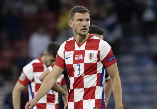 HeraldScotland: Croatian Borna Barisic in Euro 2020 match between Croatia and Scotland in Hampden