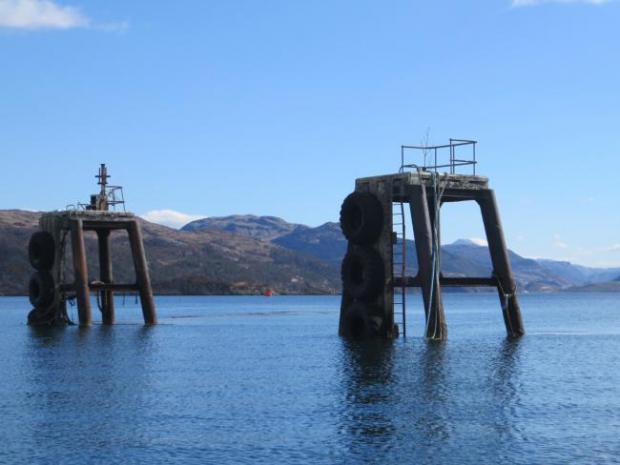 HeraldScotland: Kyleakin dolphin structures.