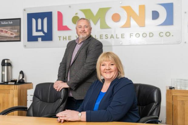 HeraldScotland: Sam and Barbara Henderson, directors of Lomond: The Wholesale Food Company.