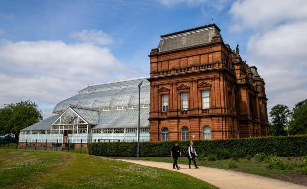 HeraldScotland: People's Palace at Glasgow Green with the adjacent Winter Gardens