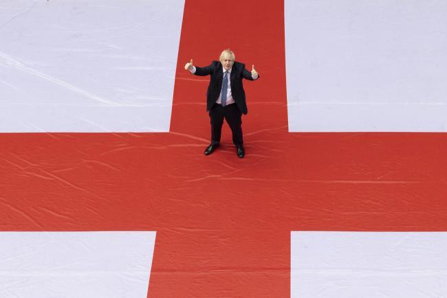 Was it right for Boris Johnson to pose with a giant England flag outside of Downing Street?