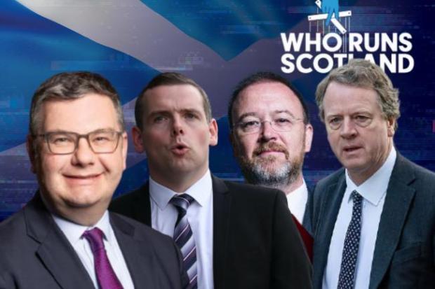 HeraldScotland: (L-R) Iain Stewart, Douglas Ross, David Duguid and Alister Jack.