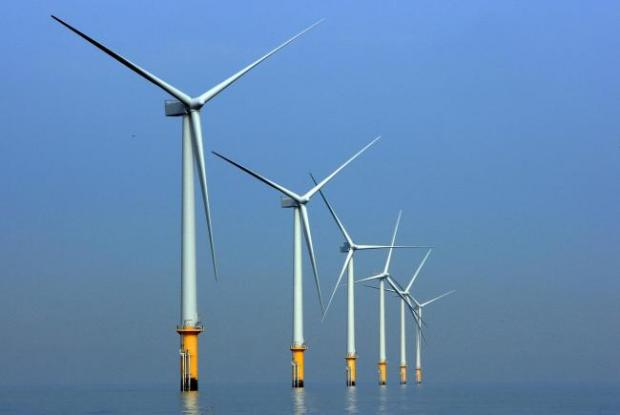 HeraldScotland: Burbo Bank windfarm in Liverpool Bay. Picture: Christopher Furlong/Getty Images.