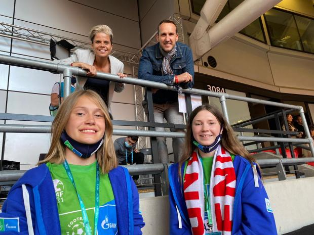 HeraldScotland: Ella Nisbet with Leila Spence