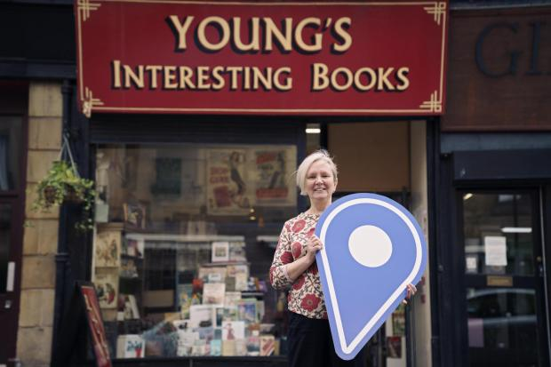 HeraldScotland: Noelle Carroll runs Young's Interesting Books and has noticed an increase in people supporting the businesses around them