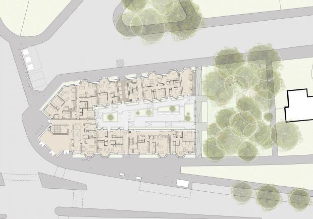 HeraldScotland: Site plan.