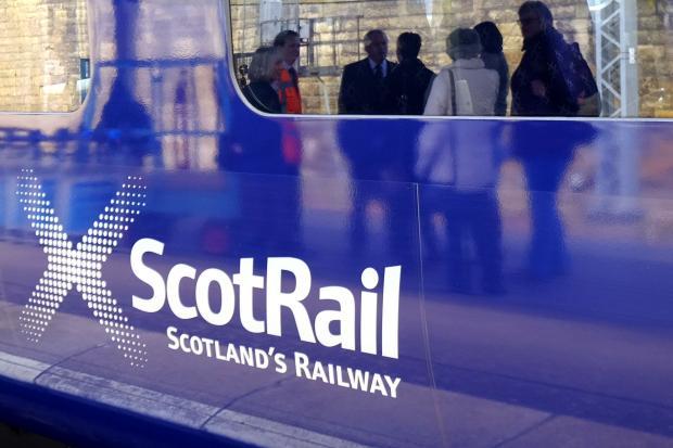 HeraldScotland: A ScotRail sign