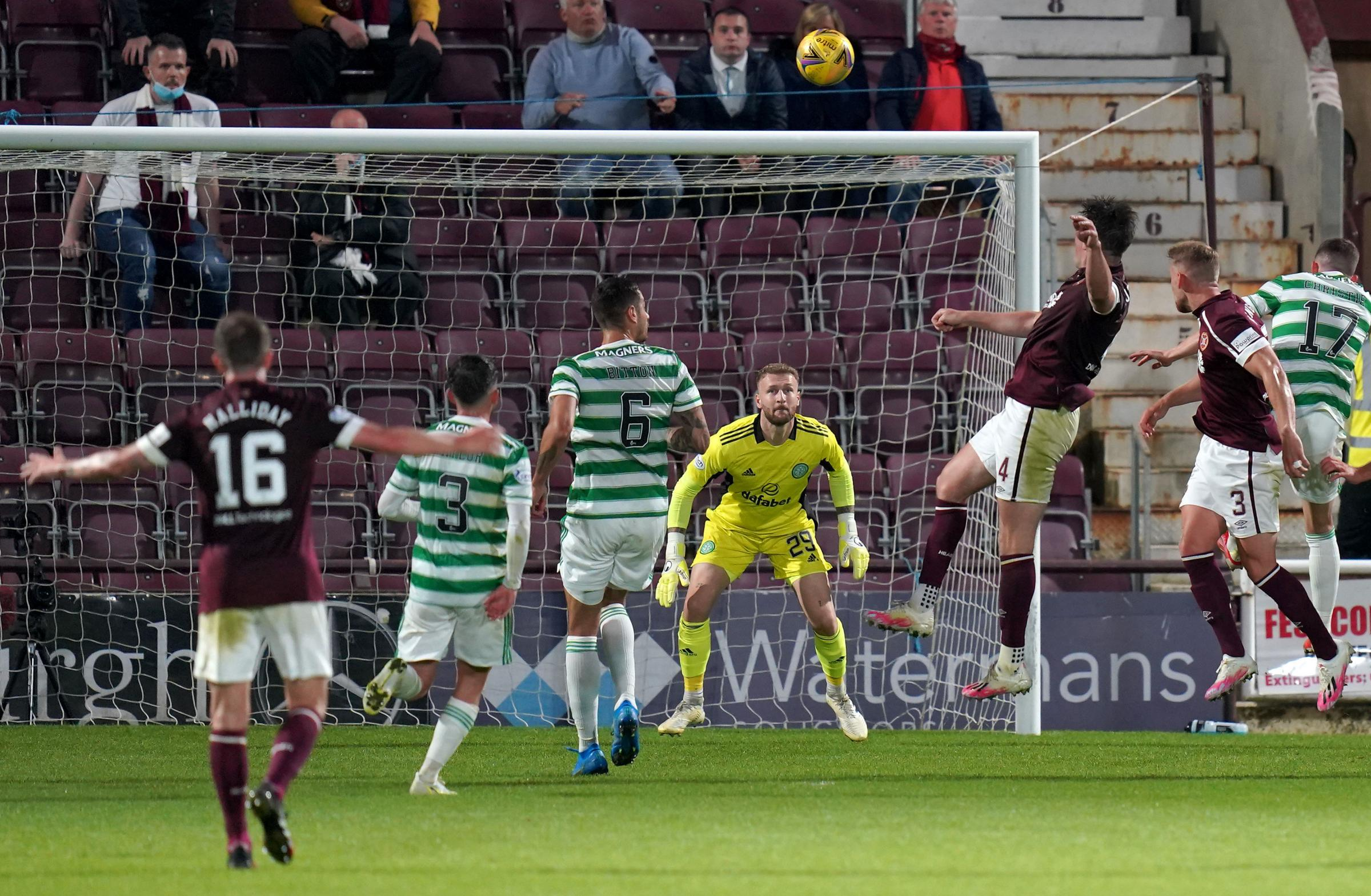 Hearts 2 Celtic 1: A tale of two keepers as John Souttar rocks Celtic and Tynecastle to their foundations
