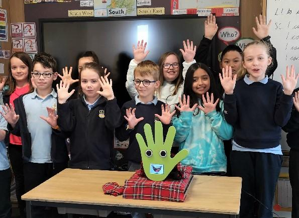 HeraldScotland: Youngsters at Broomhill Primary also loved the robot.