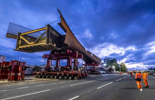 HeraldScotland: Installation of the active travel bridge over the M8 at Sighthill has begun