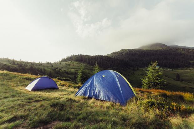 HeraldScotland: Tents pitched on a mountain. Picture: PA Photo/iStock