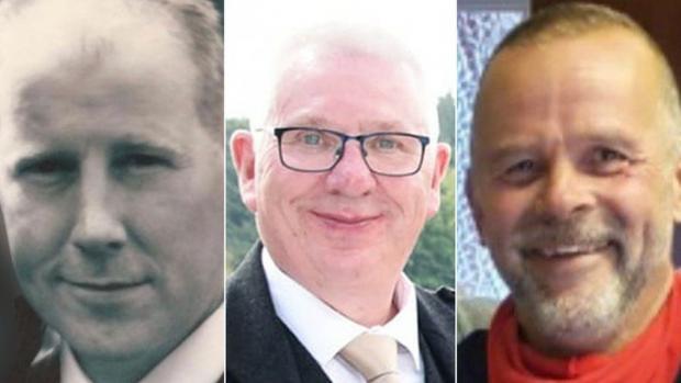 HeraldScotland: Brett McCullough, Donald Dinnie and Chris Stuchbury