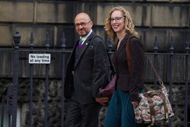 HeraldScotland: Scottish Green Party co-leaders Patrick Harvie and Lorna Slater arrive at Bute House