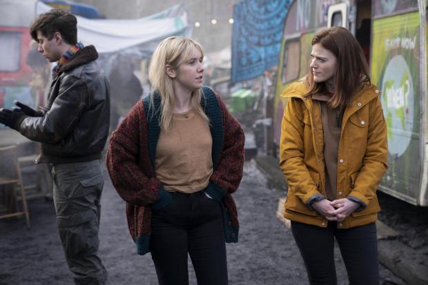 HeraldScotland: Lauren Lyle with co-star Rose Leslie in BBC thriller Vigil. Picture: Mark Mainz/World Productions/BBC