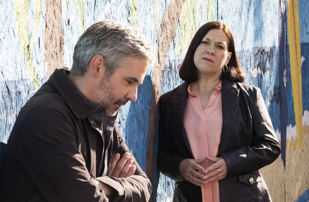 HeraldScotland: Iain Robertson and Joyce Falconer in River City. Picture: Robert Pereira Hind/BBC