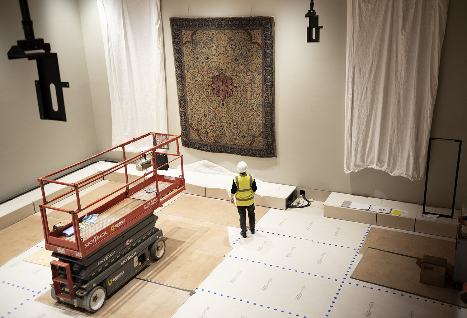The Burrell Collection Arabesque Carpet install complete.