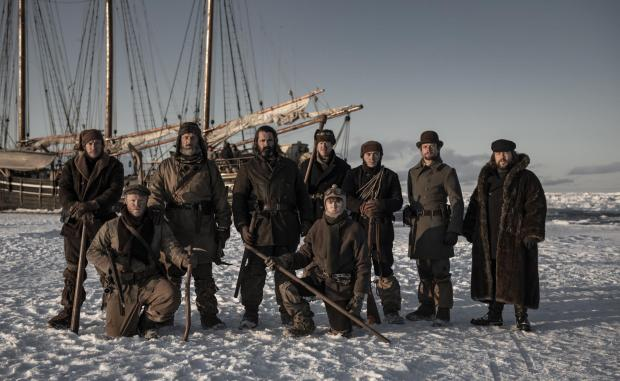 HeraldScotland: The cast of The North Water with Gary Lamont, second from left. Picture: Nick Wall/See-Saw Films/BBC