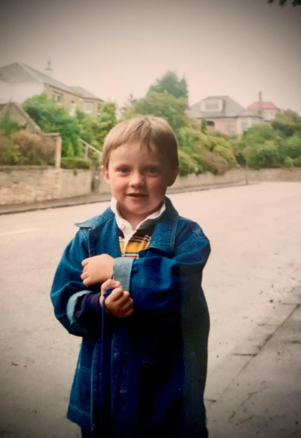 HeraldScotland: Hamish Hawk aged five
