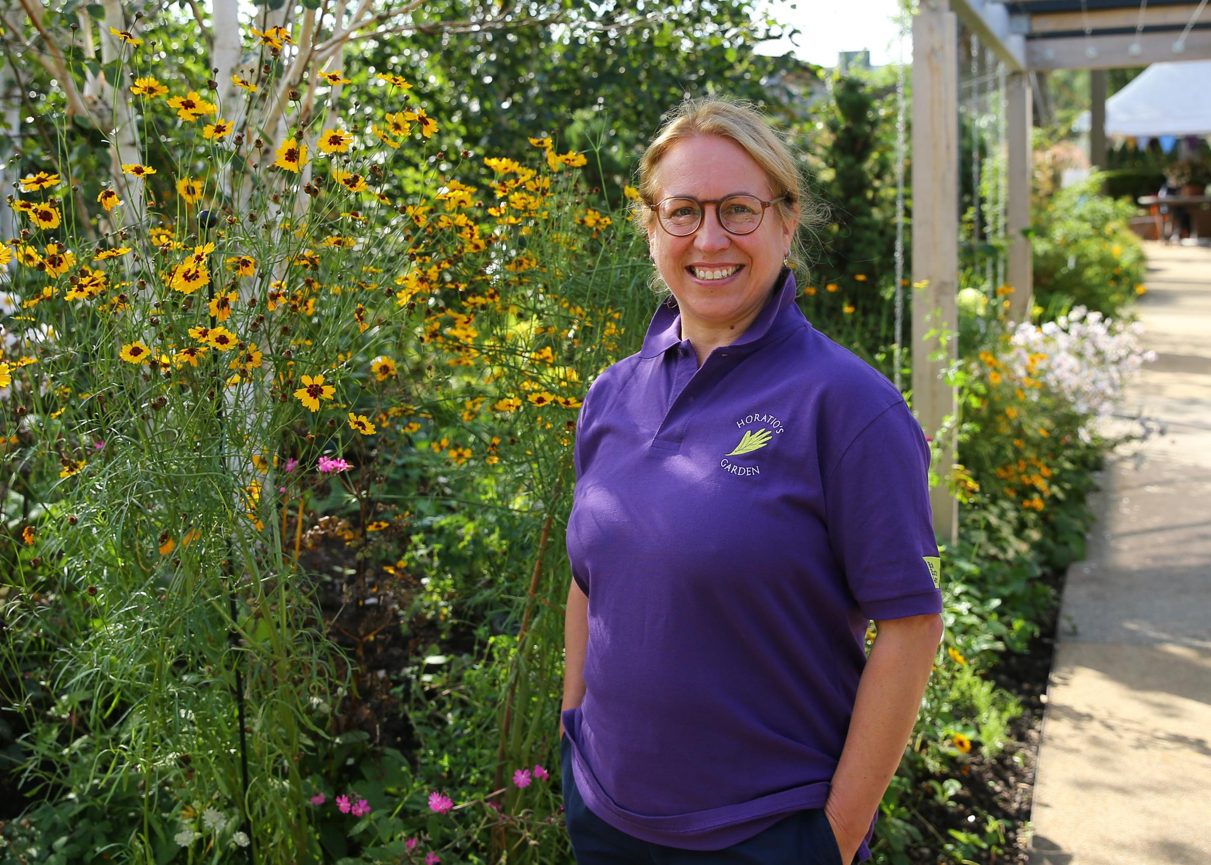 Sallie Sillars, head gardener and horticultural therapist at Horatios Garden. Photograph by Colin Mearns.
