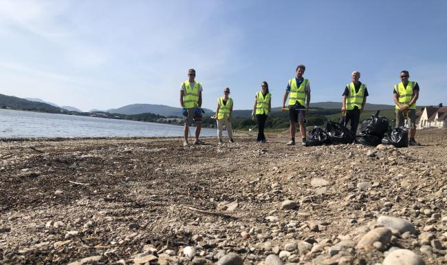 Scottish Sea Farms employees regularly patrol local shorelines to remove  marine and general waste