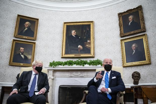 HeraldScotland: In the Oval Office. Picture: by Al Drago-Pool/Getty Images.