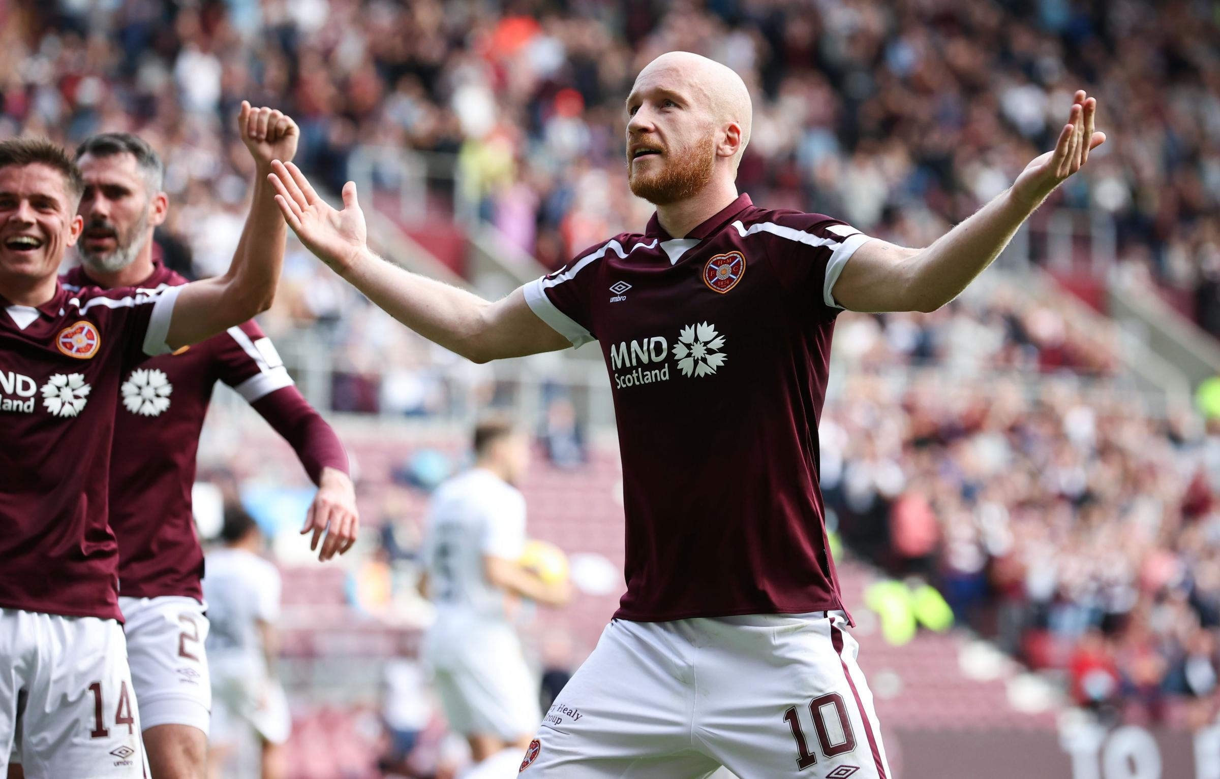 Hearts 3-0 Livingston: Hosts put lethargic Lions to the sword
