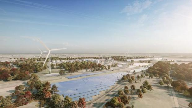 HeraldScotland: When fully operational, the solar farm and wind turbines will produce 45GWh of green electricity annually – enough to power the equivalent of approximately 12,000 homes.