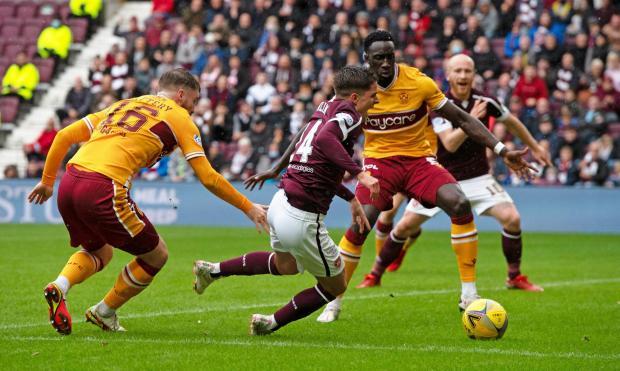 HeraldScotland: Cammy Devlin during Hearts' 2-0 win over Motherwell on Saturday
