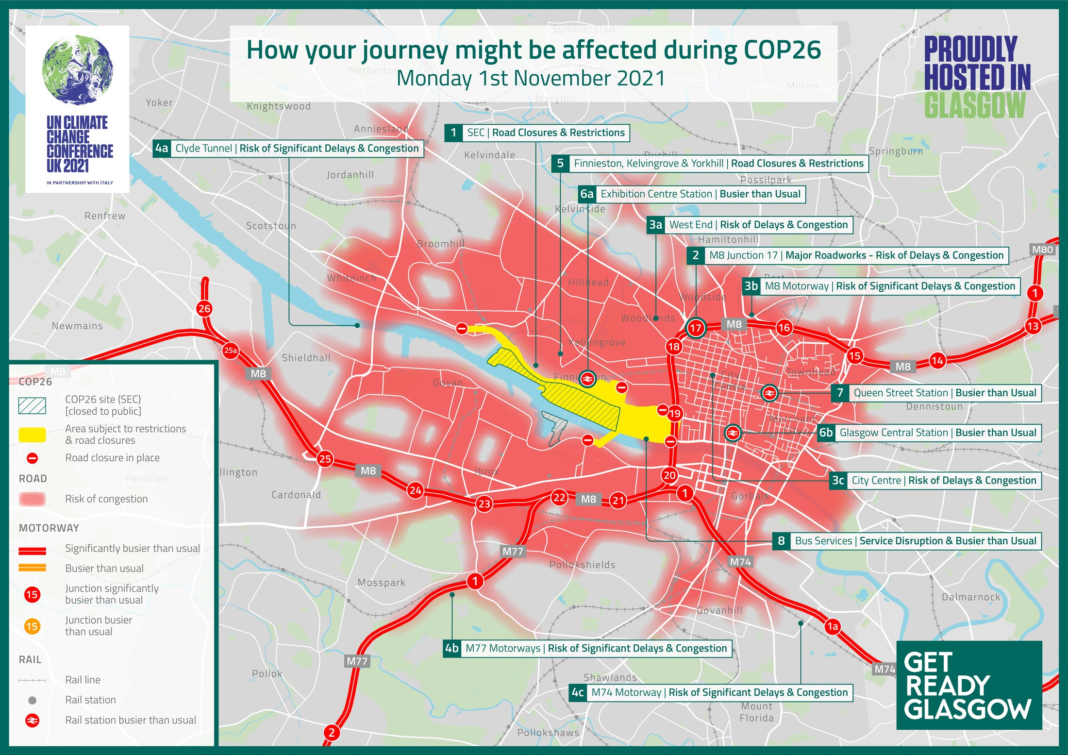 Glasgow COP26 road closures and traffic warnings confirmed ahead of climate summit