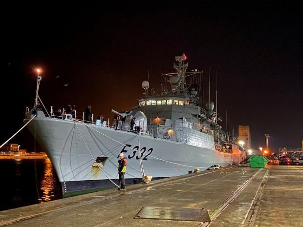 HeraldScotland: Portuguese warship NRP Corte Real at Leith.