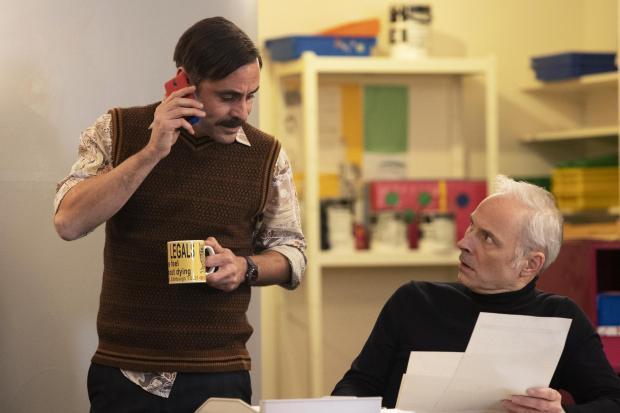 HeraldScotland: Mark Bonnar with Guilt co-star Emun Elliott who plays Kenny. Picture: Robert Pereira Hind/BBC