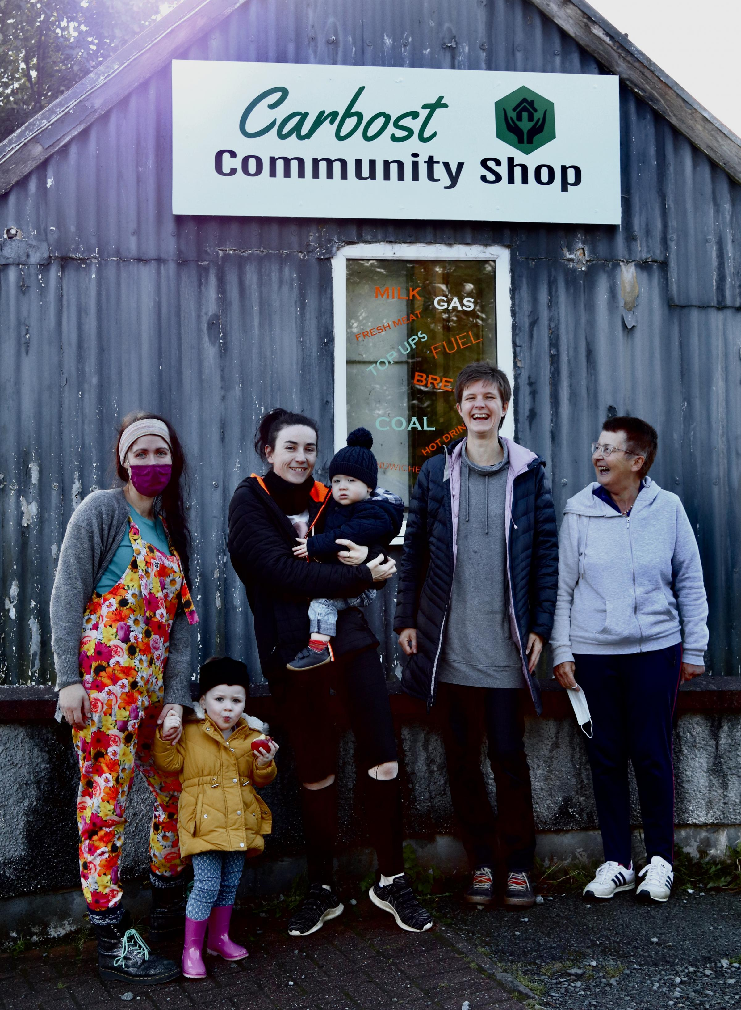 Volunteers show the strength of people power at Carbost community shop