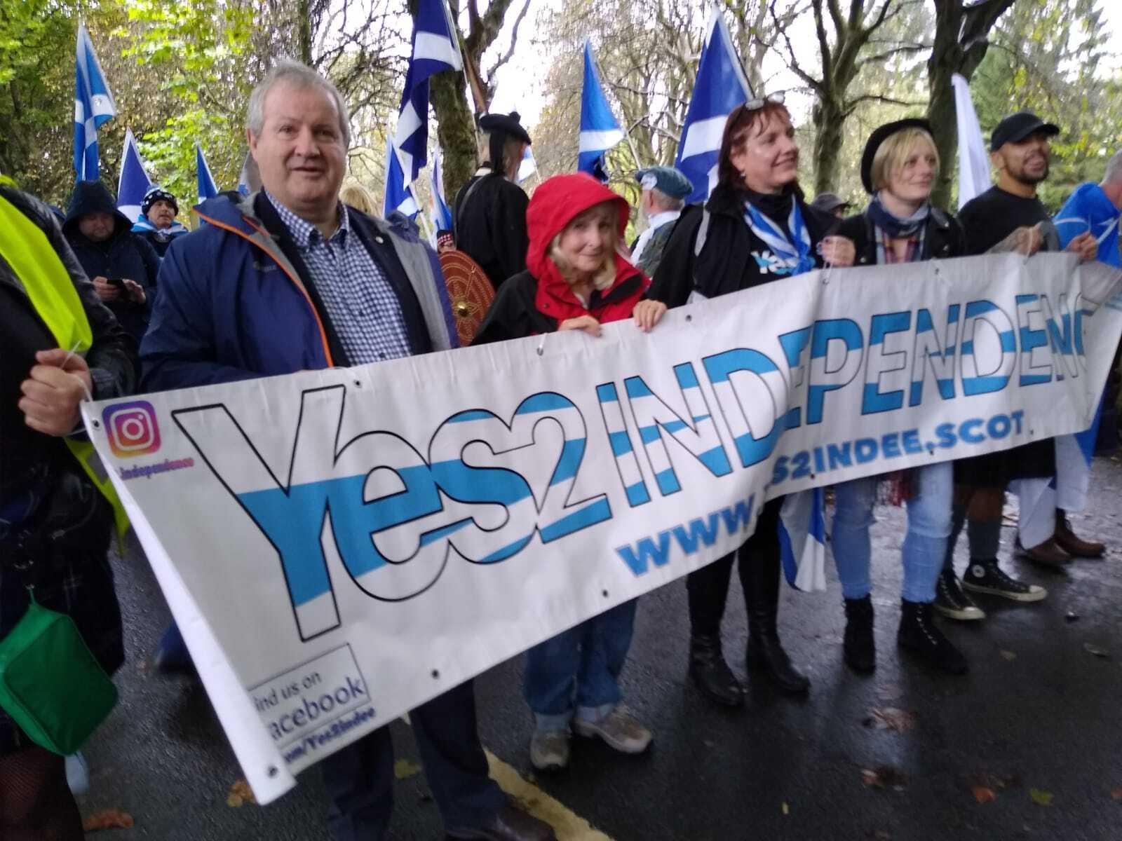 Indyref: Ian Blackford lidera la marcha por la independencia en Glasgow