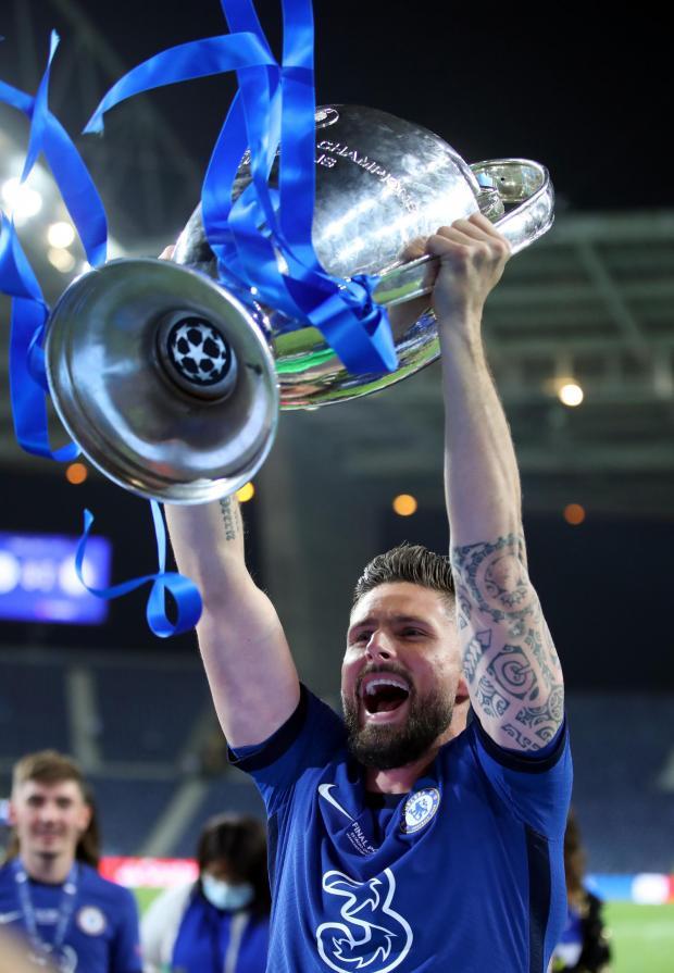 HeraldScotland: Olivier Giroud lifts the Champions League trophy