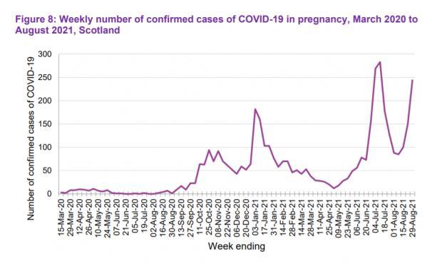 HeraldScotland: The rise in cases during pregnancy partly reflects changing testing patterns as well as the increased prevalence of the virus as restrictions were eased